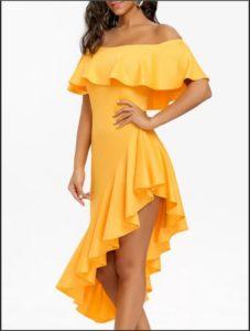платья желтое