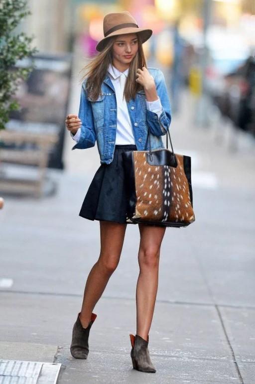 шляпа джинсовая юбка