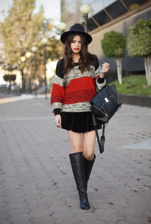 шляпа мини юбка