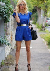 шорты синие