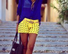 шорты желтые