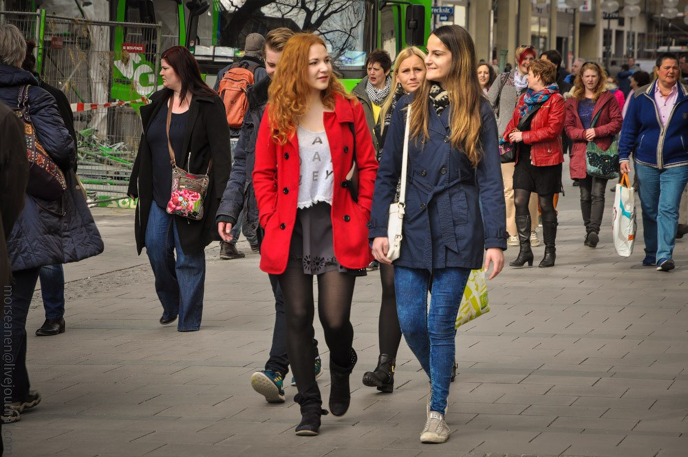 немки на улицах