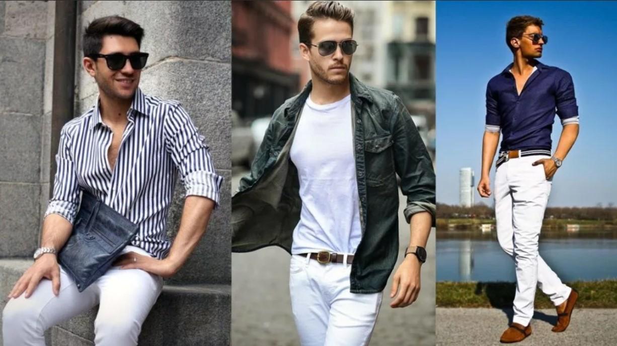 джинсы белые