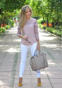 джинсы блузка