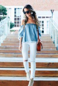 джинсы блузка 3