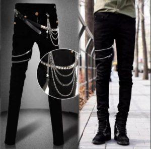 джинсы с клепками