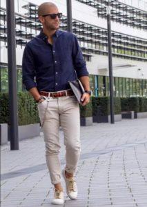джинсы с цепочкой