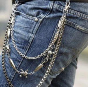 джинсы с цепью
