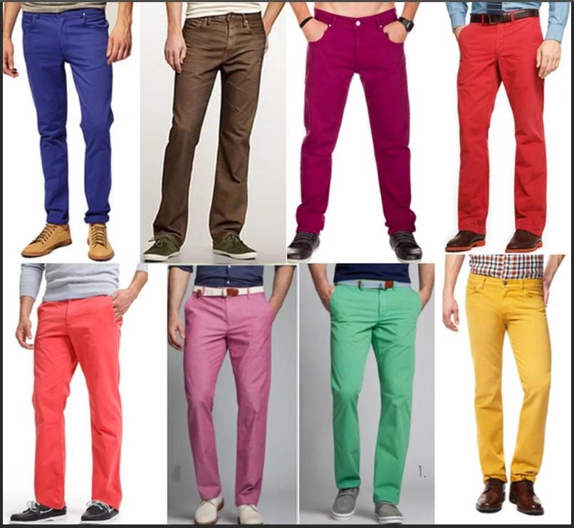 джинсы цветные