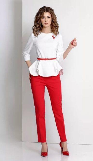 красный блузка 3