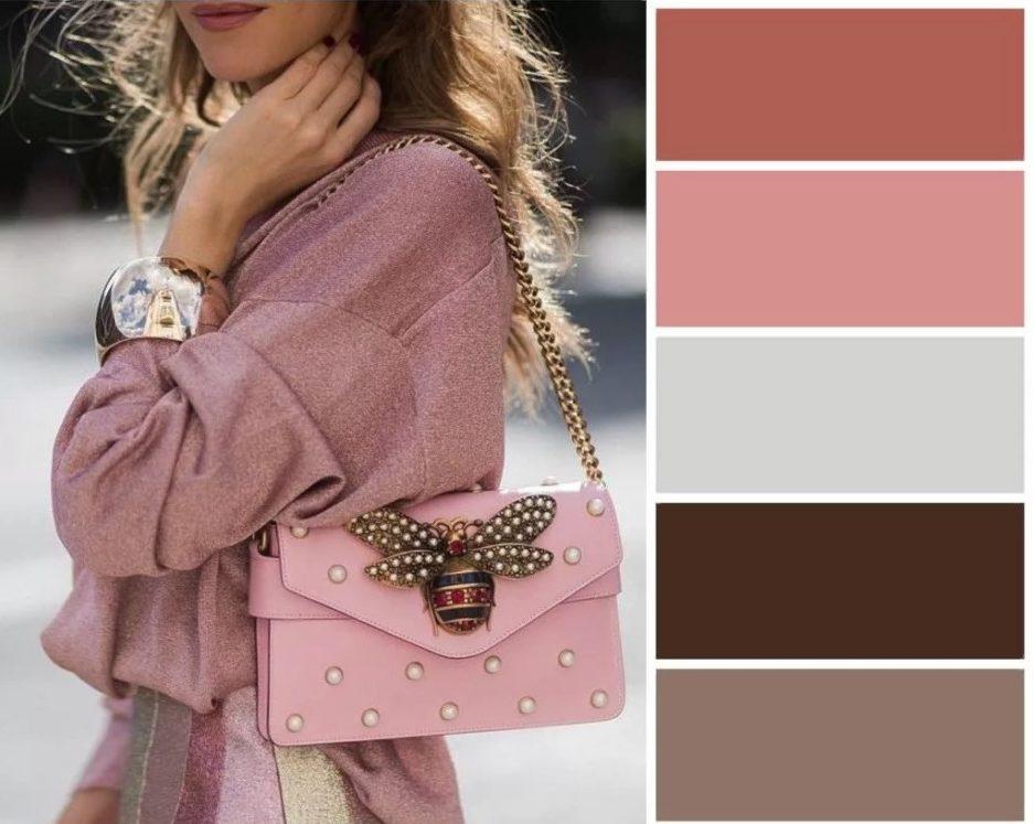 одежда розовый с серым