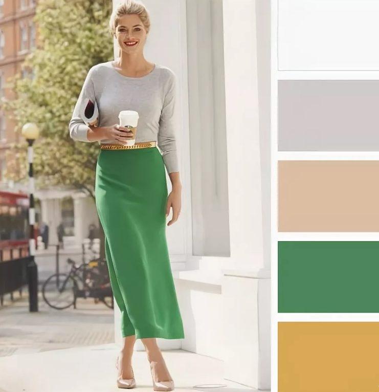 одежда серый зеленый
