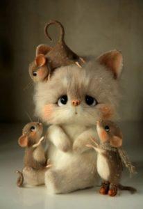 поделки мышь