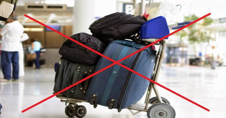 слишком большо1 чемодан