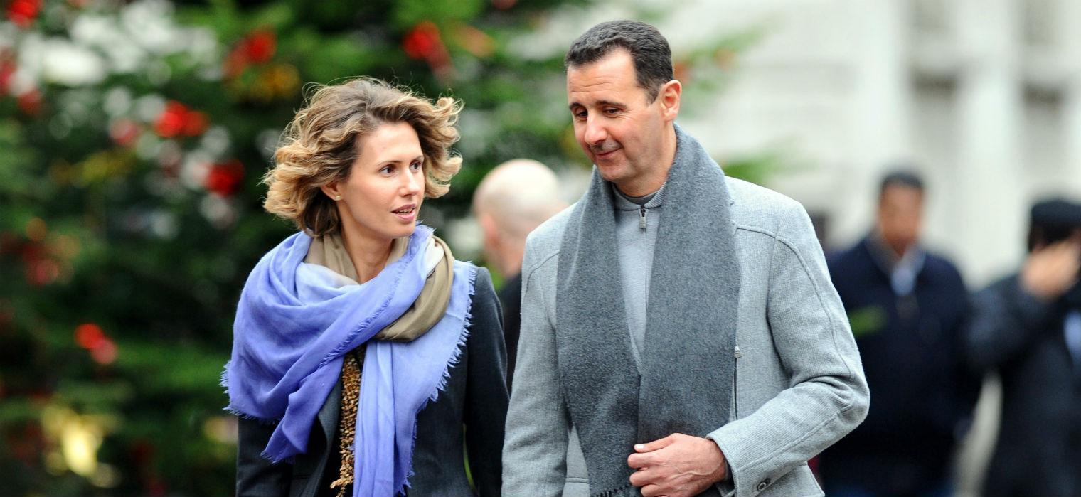 Альма Асад с мужем