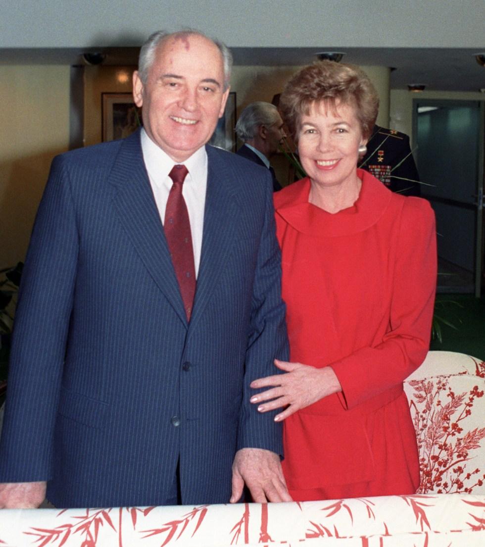 Раиса Горбачева с мужем