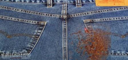 джинсы со ржавчиной