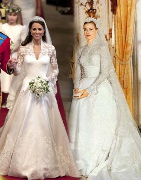 Свадебное платье Грейс Келли и Кейт Миддлтон