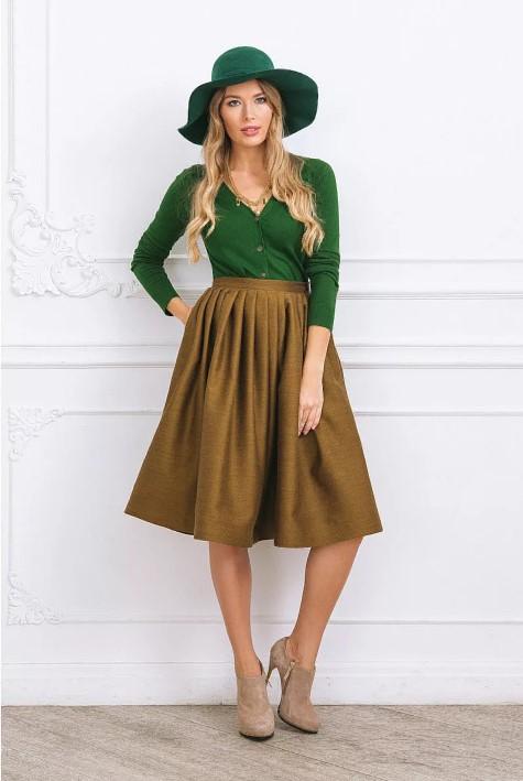 юбка оливковый