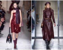 Кожаное платье — модный тренд осени-2019