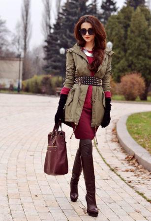 Хаки с красным сочетание в одежде