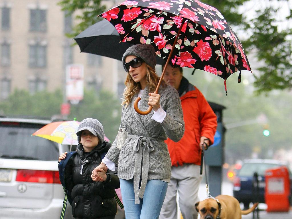 Сара Джессика Паркер зонт с принтом