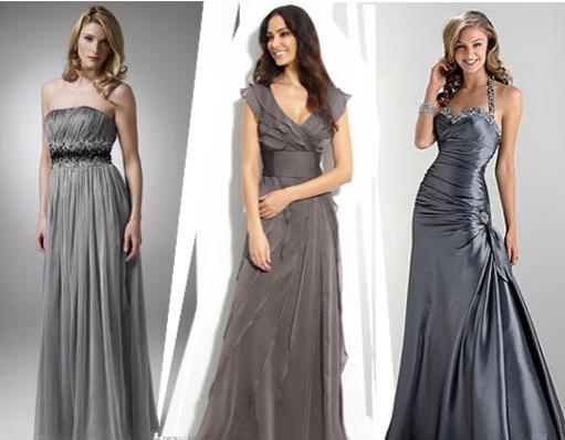 серый цвет платья