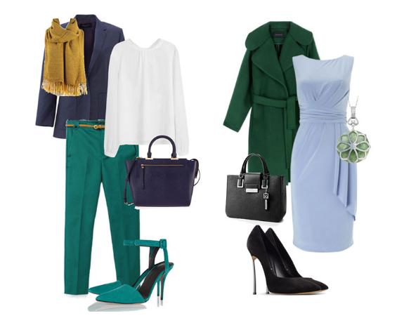 сине-зеленый цвет в одежде