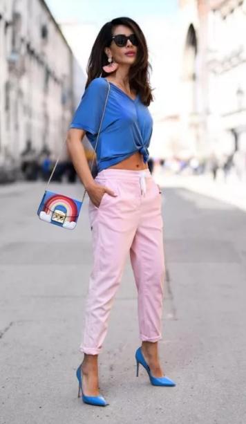 сине-розовый образ романтичный