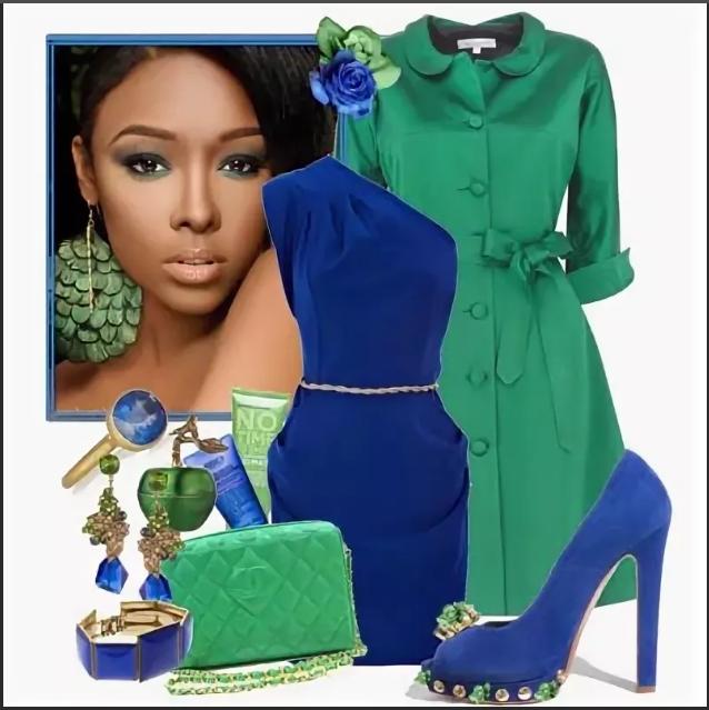 сине-зеленый вечерний вариант