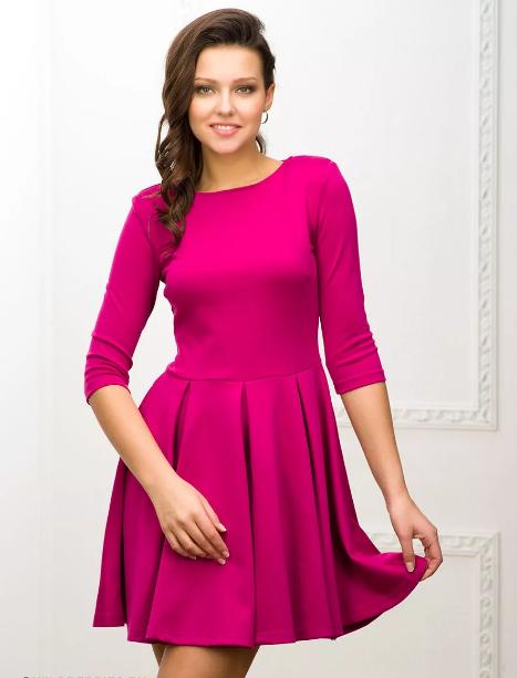 мини платья цвета фуксии макияж
