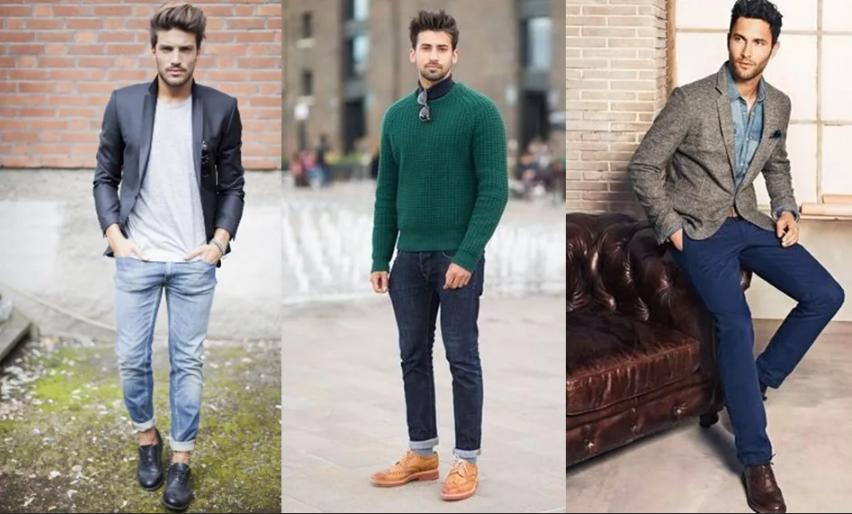 мужские джинсы подвернуть с чем носить