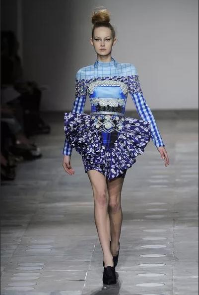 платье катрантцзу синее