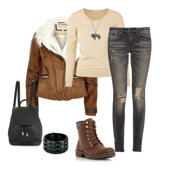 серый и коричневый в одежде спортивный стиль