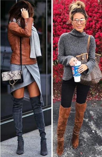 серый и коричневый в одежде весна осень