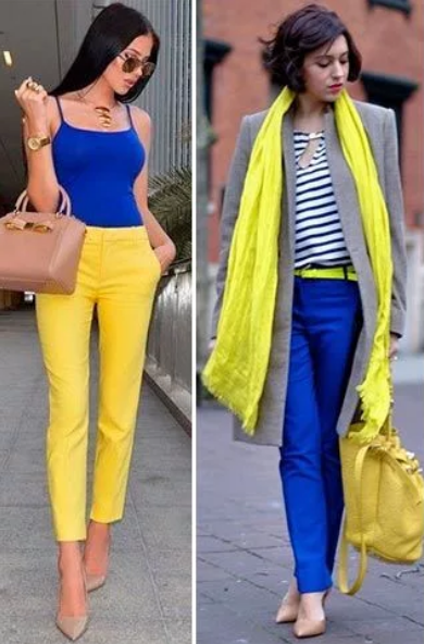 сине-желтый стиль романтичный