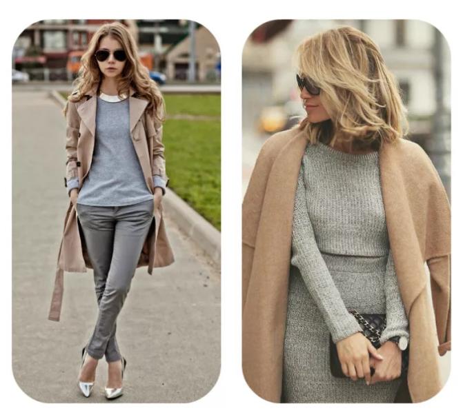 серый и коричневый в одежде классика