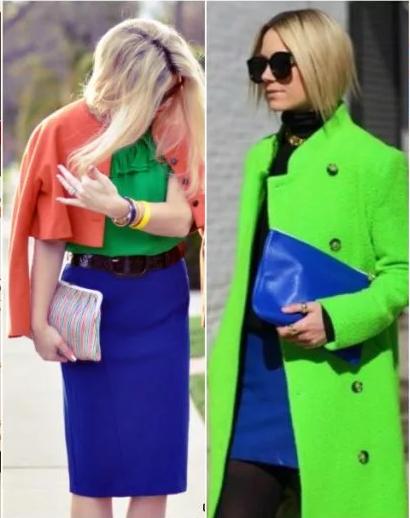 сине-зеленые юбки и верхняя одежда
