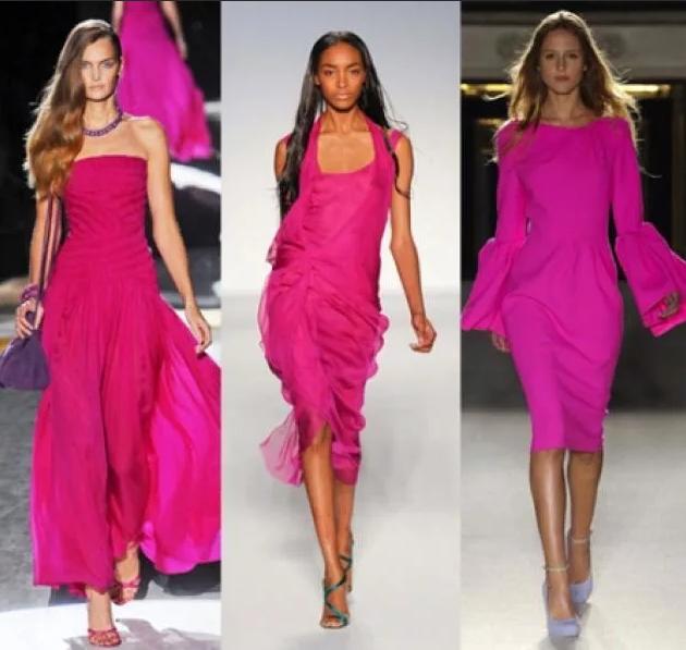 миди платья цвета фуксии