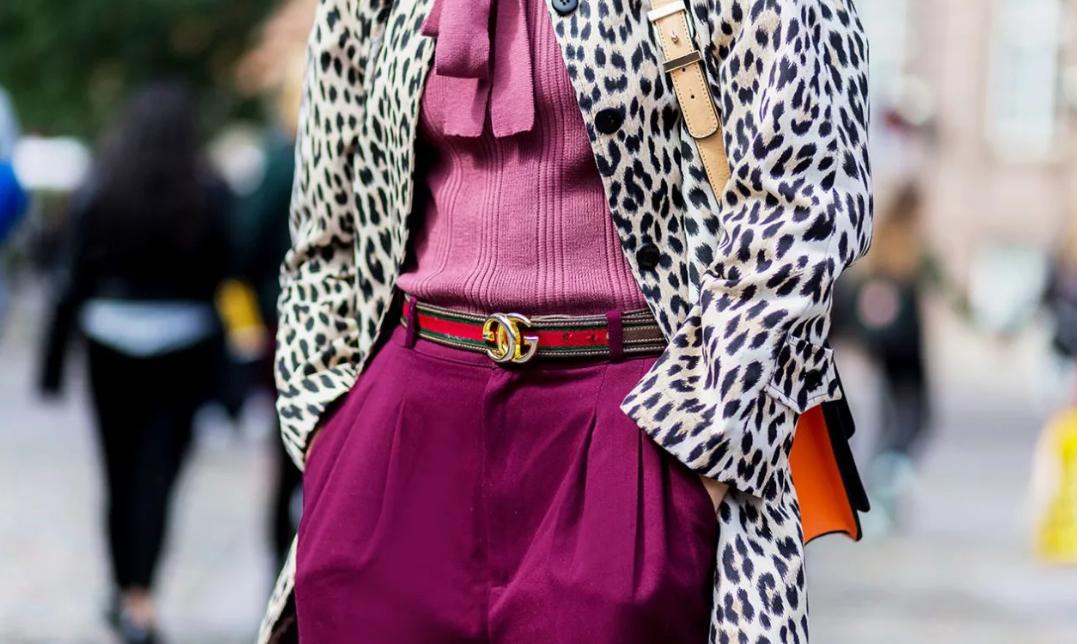 принт леопард в одежде