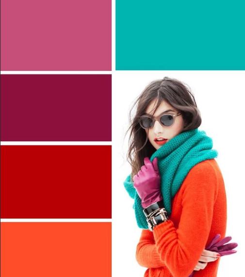 зеленый и розовый насыщенные цвета сочетание в одежде