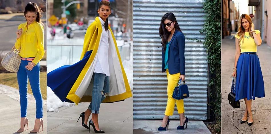 сине-желтый романтический стиль
