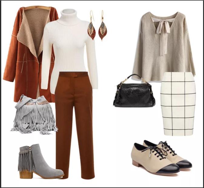 серый и коричневый в одежде кэжуал