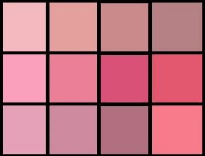 розовый оттенки для летнего типа