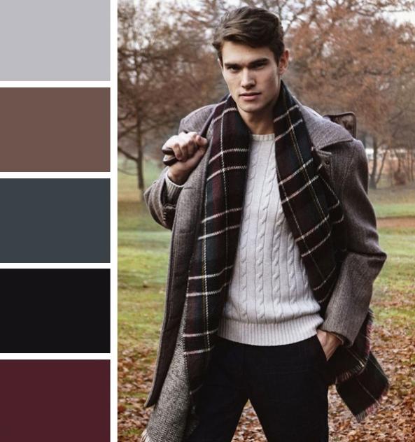 серый и бордо для мужчин