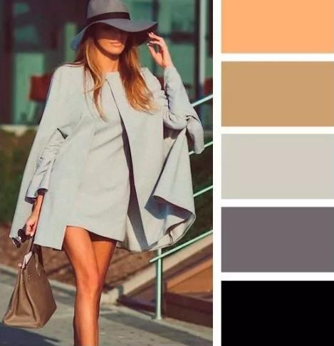 серый и коричневый в одежде все оттенки