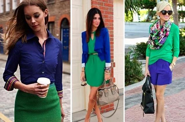 сине-зеленый романтический стиль