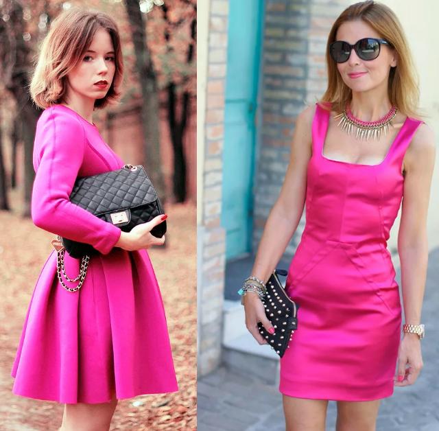 мини платья цвета фуксии