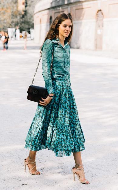 принт юбка и блузка