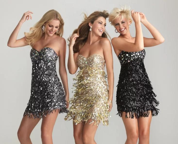 дискотека блестящее платье
